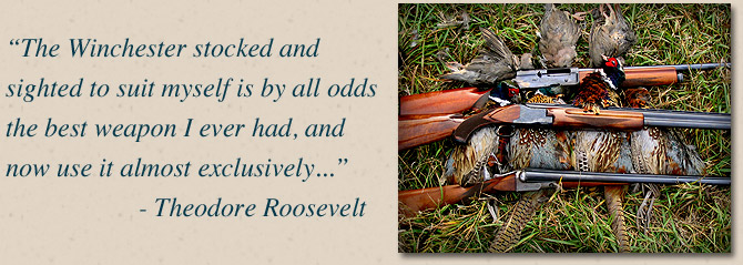 Theodore Roosevelt quote about Winchester firearms