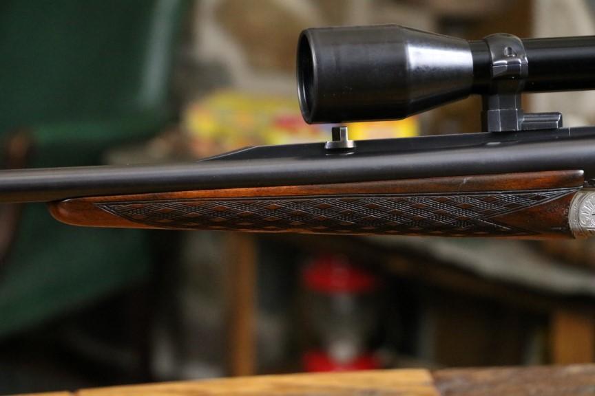 Ludwig Borovnik Ferlach Austria Double Rifle with Zeiss 7mm